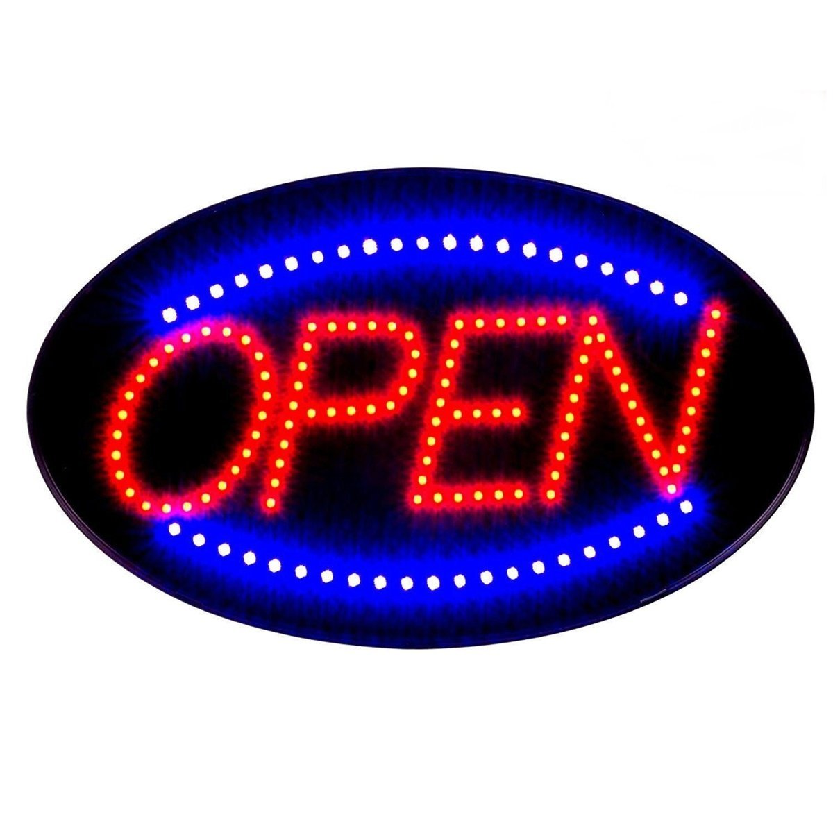 """Animated Motion Running Business OPEN SIGN +On Off Switch Bright Light Neon Ultra Bright LED Neon Light 19x10"""" Animated Motion OPEN Business Sign with ON /OFF"""