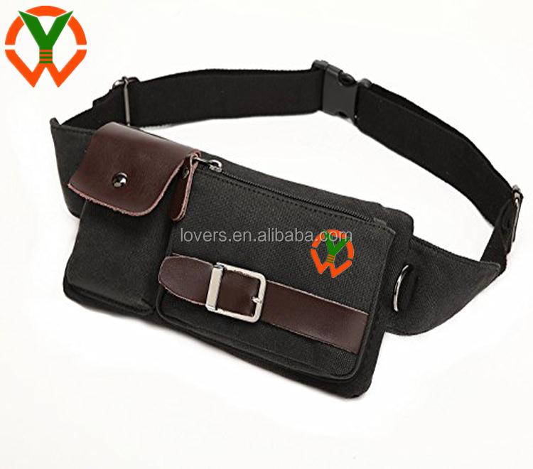 Men/'s Women Waist Fanny Pack Belt  Bag Waterproof Leather Outdoor Sport  HOT