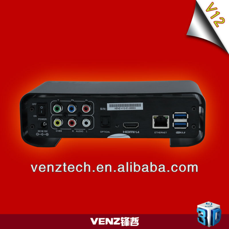 3D HD media player t6 plus with wifi module USB3.0 and external SATA