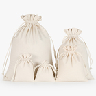 Wholesale Natural Cotton Storage Laundry Favor Holder Fashion Jewelry Pouches Gift Shoe Canvas Drawstring Bag