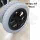 With pneumatic tire 12 1/2 x 2 1/4 electrically powered wheelchair wheel