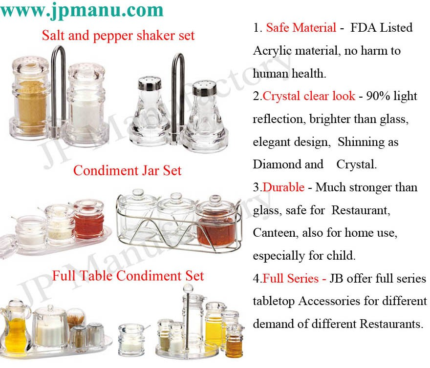condiment organizer restaurant. 8pcsset Restaurant Use Acrylic Condiment Organizer