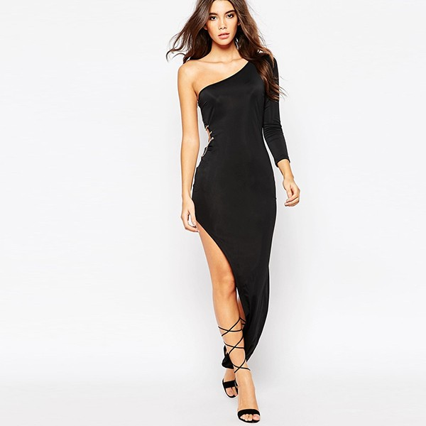 One Shoulder Lady Dress Designs Women Fashion Clubwear Extreme Sexy Dress Buy One Shoulder Lady Dresswomen Fashion Clubwear Extreme Sexy