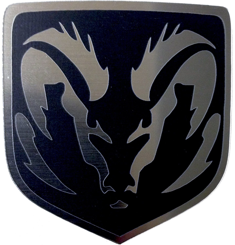 Dodge Caliber & Caliber Srt-4 Rear Emblem Angry Ram Black