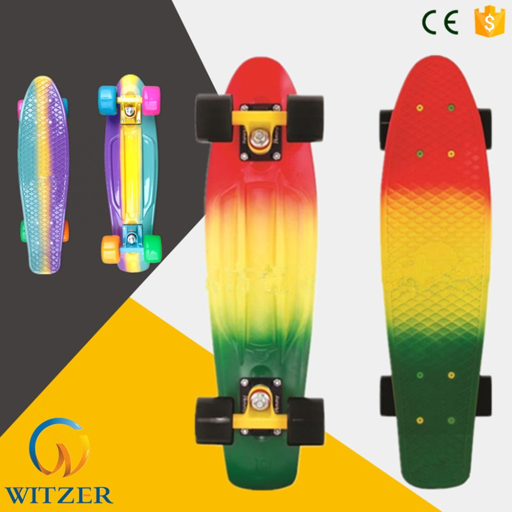 Starry Printing Sky Blue Plastic Good Longboard Pu Four Wheel Skateboard Buy Cheap