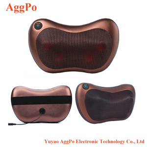 Shiatsu Pillow Massager with Heat for Back, Neck, Shoulders Heating Pillow Kneading Massager 3D Stereo Car Massage Cushion