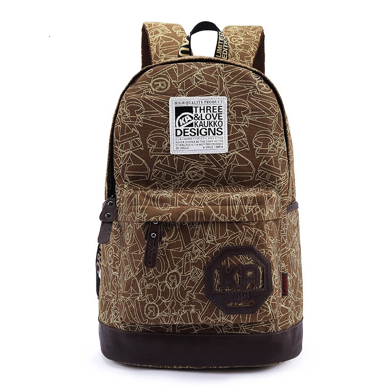 2015 2014 Canvas Backpacks for Teenage Girls Boy Women Men Ladies Gentlemen Printing Backpack Tactical Backpack Shoulder Bag