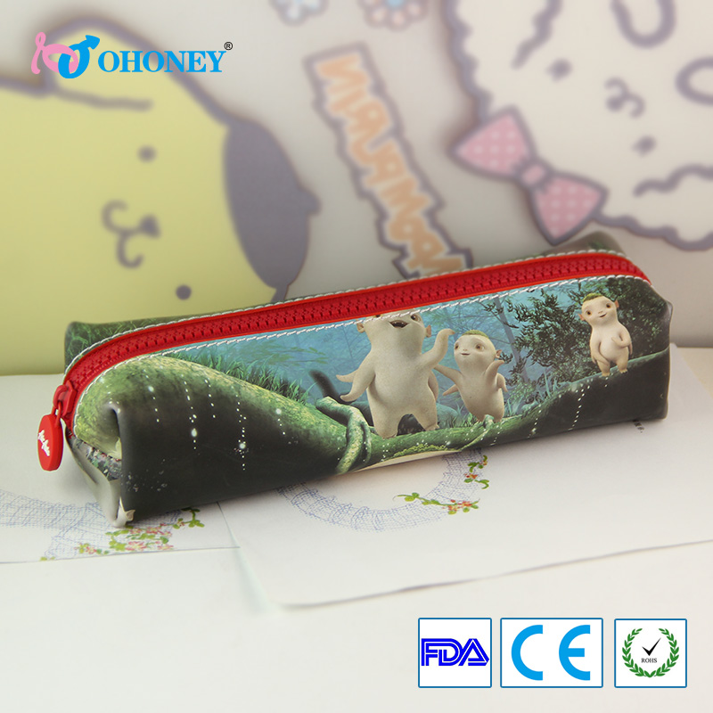 Much durable good quality silica jel pencil case bags handbags avaliable for pencils/eraser/stationeries
