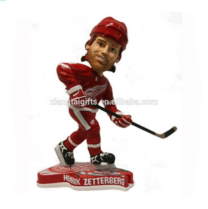 Resin handmade sport hockey player bobblehead figurines