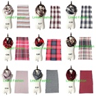 2018 Lady Women Fall Winter Infinity Blanket Oversized Shawl Plaid blanket scarf