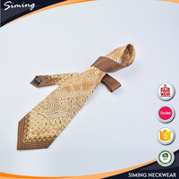 Chinese supplier wholesale latest mens printed silk tie