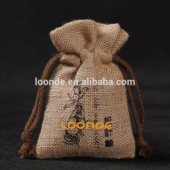 "3"" X 4"" wholesale bags burlap for candles handmade soap wedding"