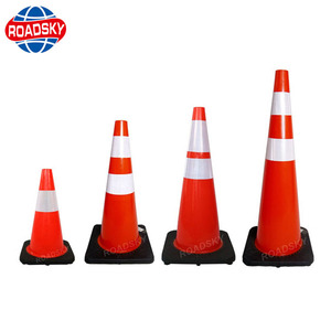 road safety warning security led light traffic cone