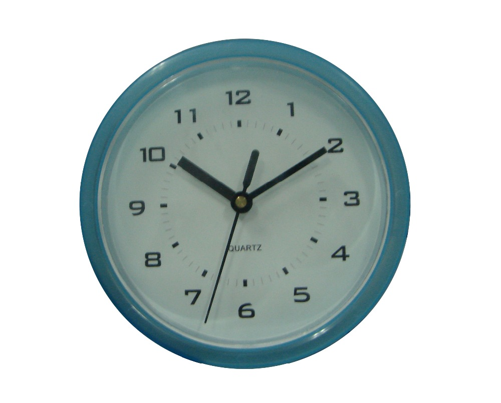 Small size blue color usual wall clock