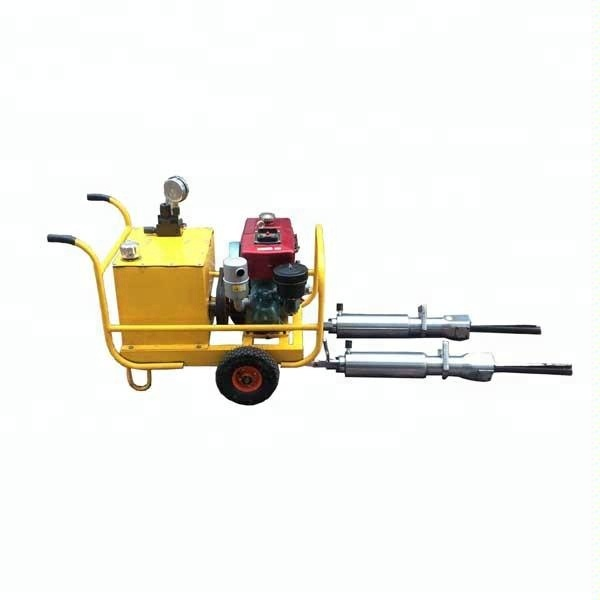 skype: suki.wang5 Hydraulic rock splitting tools/ stone splitters/ wedge for splitting stone