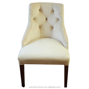 Dining room furniture popular off white fabric dining chair