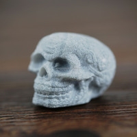 Bulk Polished Skull soapstone Whiskey ice Cube Stones