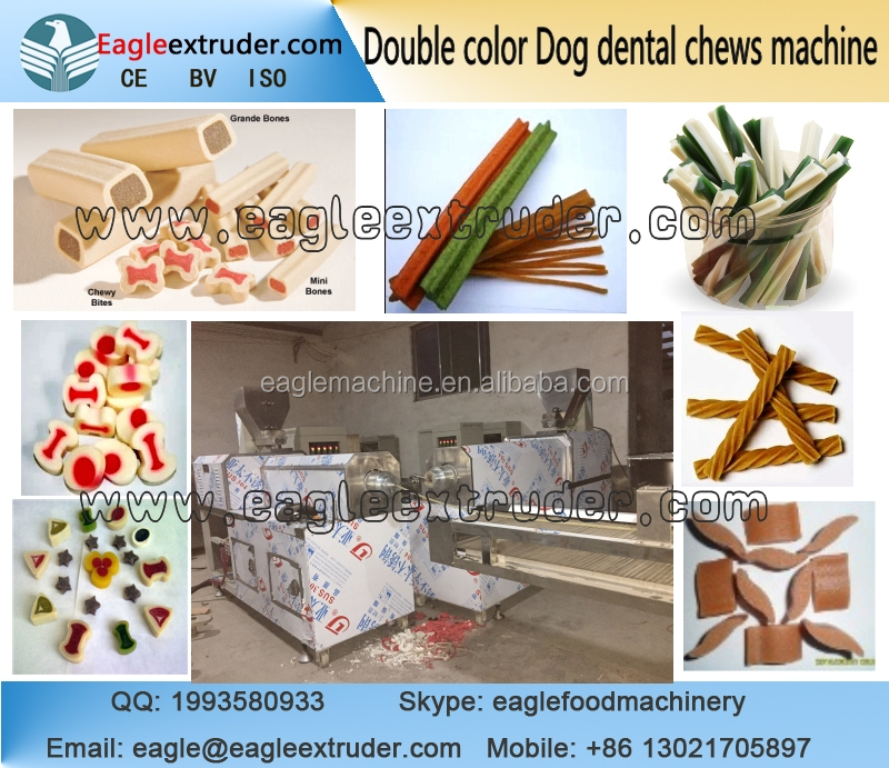 Jinan eagle DP95 1.5-2tons per hour high quality automatic pet dog food twin screw extruder making machine
