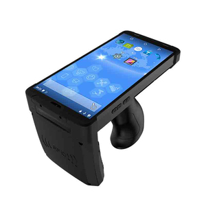 Android 8 1 Mobile Handheld Terminal UHF RFID Reader 1D/2D Barcode Scanner  Rugged PDA With Pistol Grip industrial pda