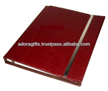 Adapac 0059 Red Leather Cover 8x10 Wedding Photo Albums Leather