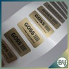 PP synthetic paper 0.06mm polyester golden LOGO custom product labels sticker