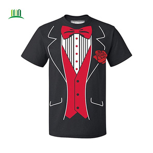 Hot sale Tuxedo Red Rose Funny Men's T-Shirt