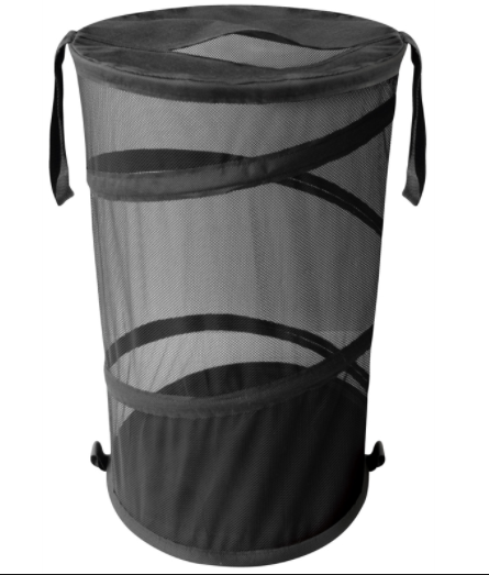 pop up open laundry hamper with zipper closure cover