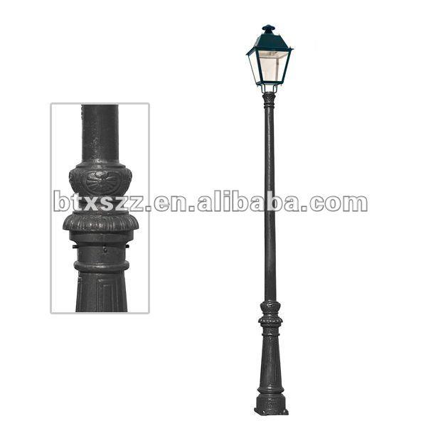 Haute qualit casting antique lampadaire lampadaires de for Lampadaire exterieur rue