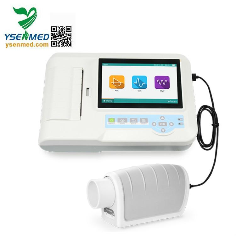 YSSPR100 Pulmonary Lung Function Tests Analyzer Portable Spirometer