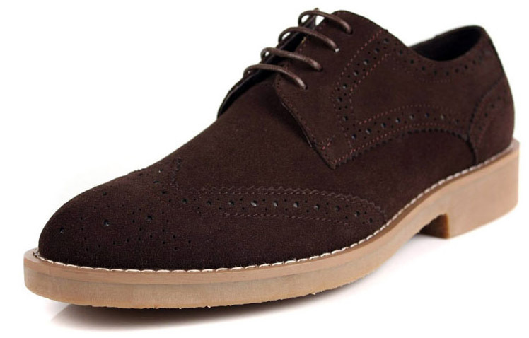 Newest 2014 man round toe 3 color top suede genuine leather durable modeling luxury oxfords men shoes size:6.5-11 ZOX73