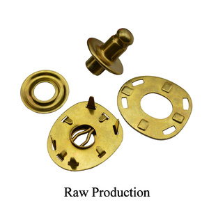 Metal snap fasteners for jackets