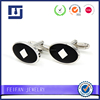 Mirror Polish solid color enamel oval shape cufflink