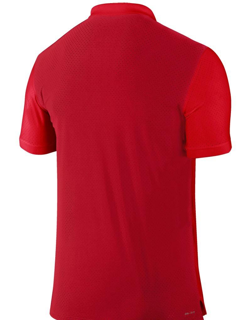 Mens Red Loose Fit Airtex Short Sleeve Dri Fit Wholesale Cheap