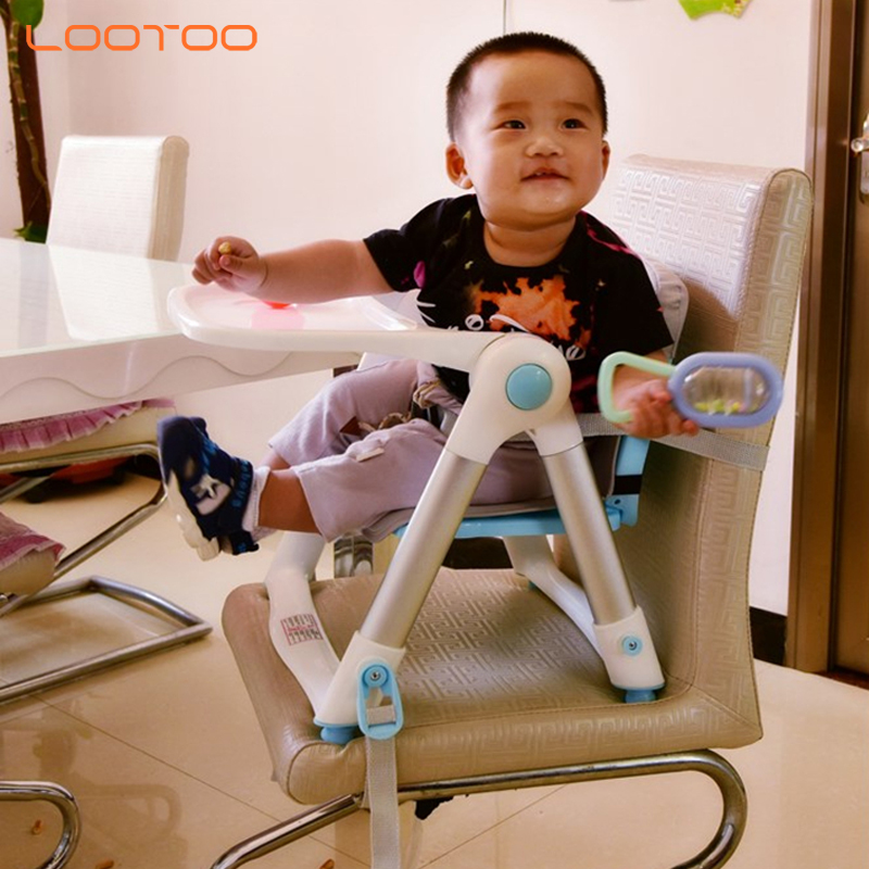 New design cheap 3 in 1 plastic foldable portable high chair baby feeding chair for sale