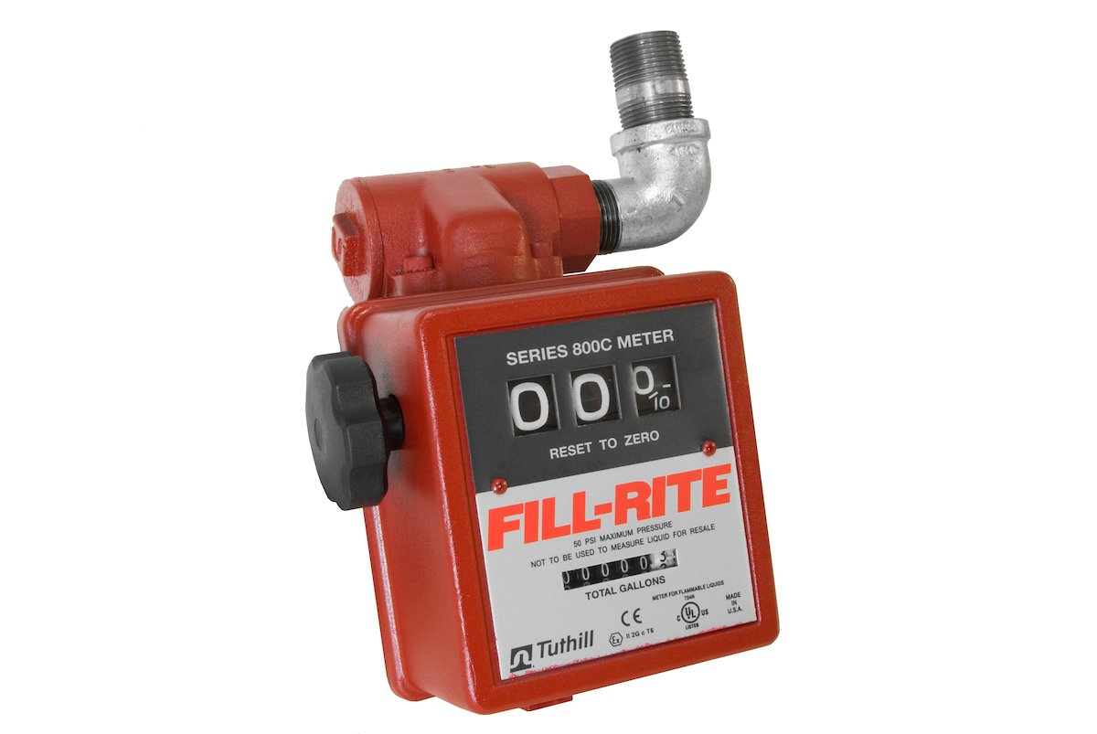 Fill-Rite 806C 3 Wheel Gravity Meter with Strainer, 5 to 20 GPM