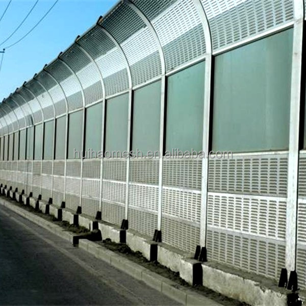 Anping factory highway noise barrier/sound barrier wall/acoustic barrier