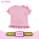 light pink puff sleeve Baby Girls' Cotton Ruffle Short Sleeve Top blank baby t-shirts wholesale