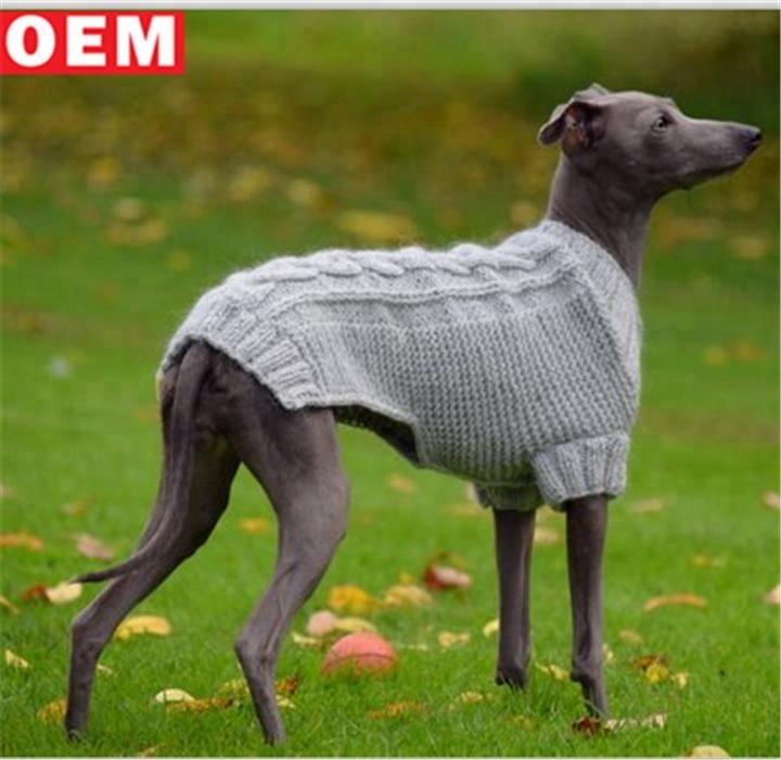 Gute qualität Italienische pet knit pullover Windhund häkeln Kleidung Italienischen Windhund kabel pyjamas