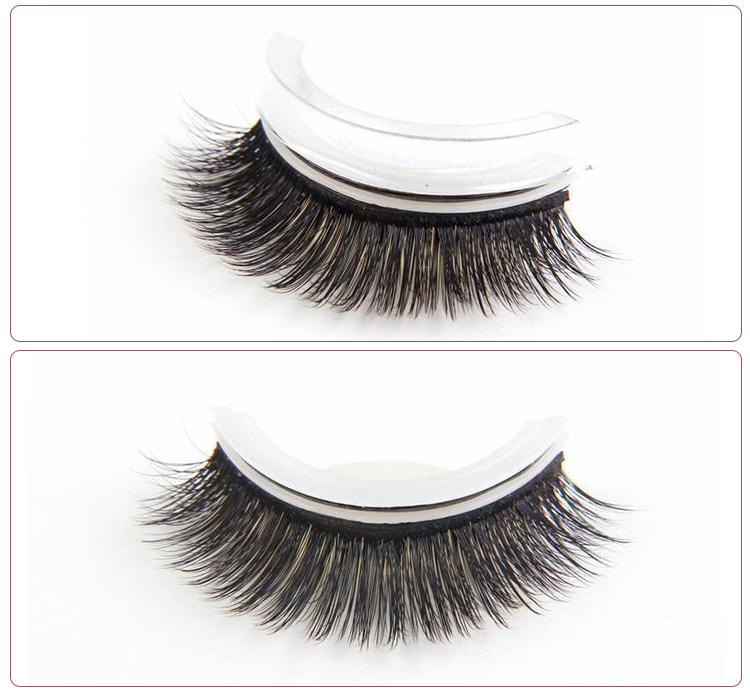 Best Quality Oem Brand Pre Glued Self Adhesive Lashes 3d False Lashes Buy 3d False Eyelashes3d False Eyelashes3d Self Adhesive Eyelashes Product