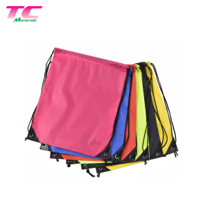 Outdoor Sport Drawstring Backpack Bag Eco-Friendly 210D Polyester Gym Draw String Bag