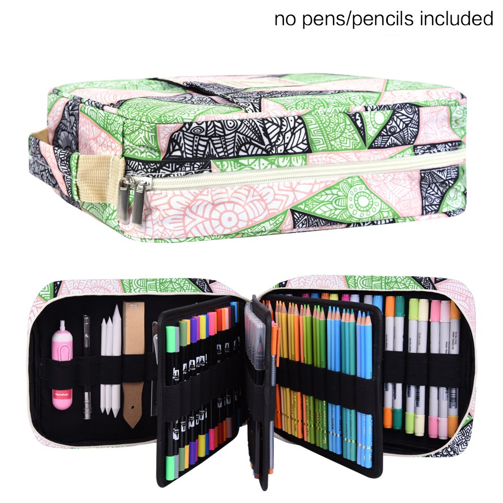 c6503f2b8ada Buy Pencil Case Holder Slot - Holds 202 Colored Pencils or 136 Gel ...