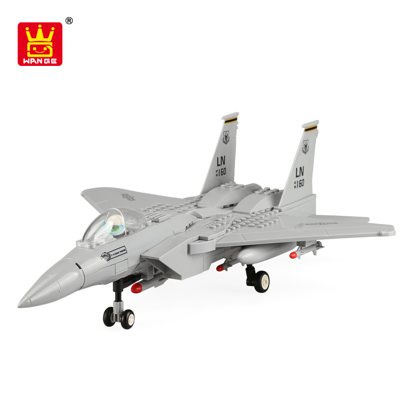 3D Puzzles EDUCATIONAL TOY 3-D WOODEN PUZZLE F-15 EAGLE FIGHTER