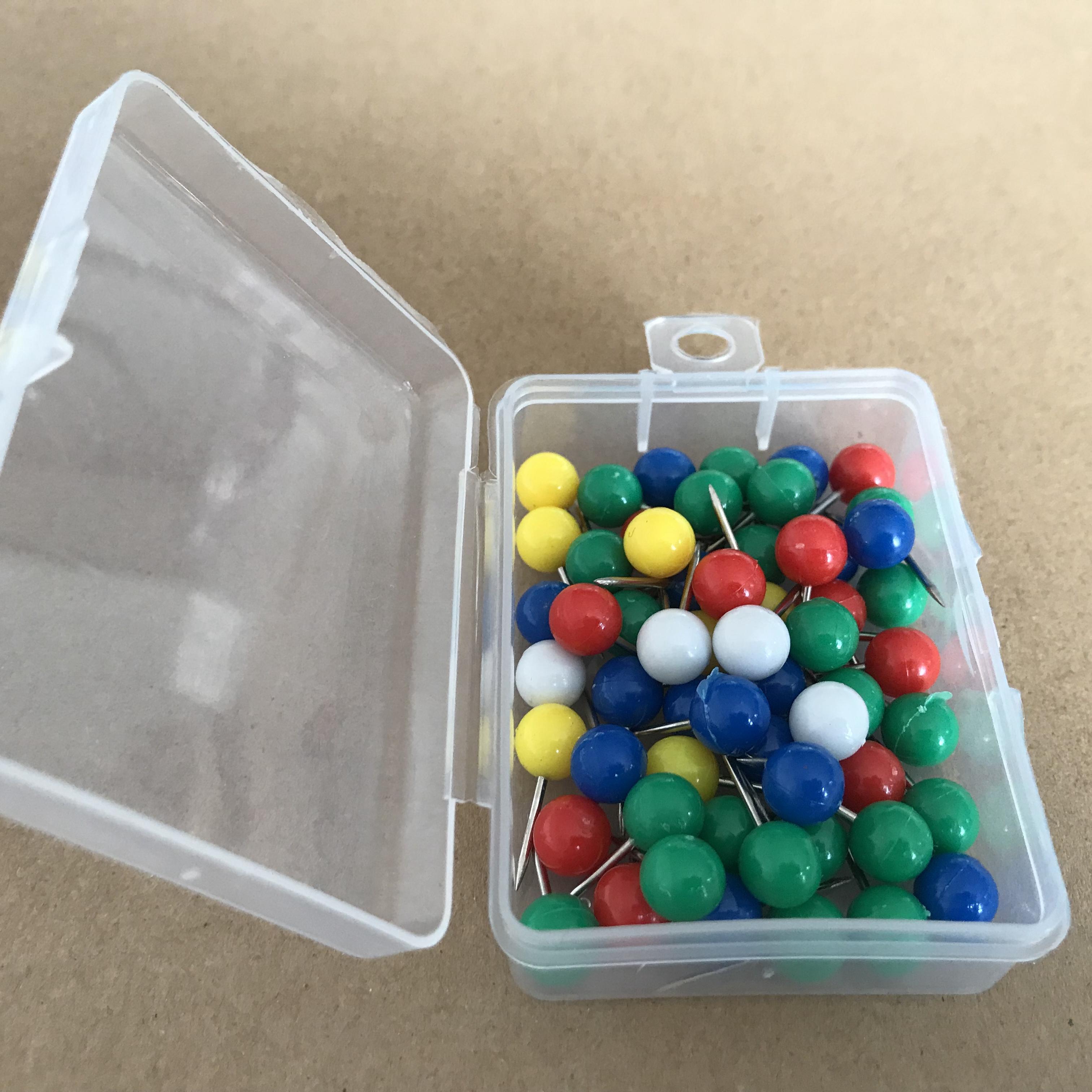 500pcs Push Pin Decorative Map Tacks Drawing Pin for Calendar Fabric Making Maps