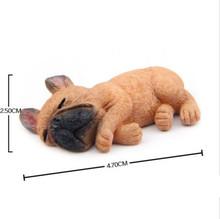 VILEAD 2 ''фигурка французского бульдога из смолы милая маленькая лежа собака модель Шиба ину собака Miniatures для холодильника на холодильник дома...(Китай)