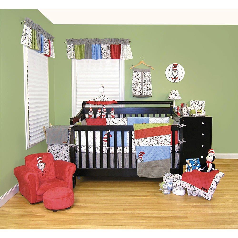 Trend Lab 6-Piece Crib Bedding Set (Dr. Seuss Cat in the Hat - Black/White)