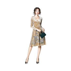 2b7582d34138 China Knee Length Evening Gown Dress
