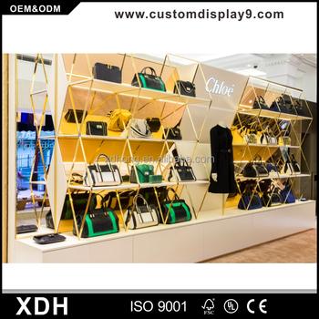 Professional Retail Bags Interior Design Bag Display Stand