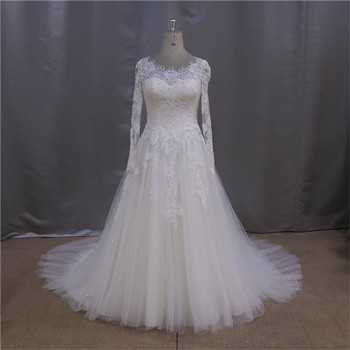 Simple Long Sleeve Traditional Latest Wedding Gown Designs 2013 ...