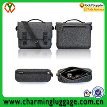 Chinese Supplier Grey Felt Shoulder Bag