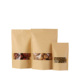 Biodegradable Waterproof Ziplock Stand Up Kraft Paper Bag